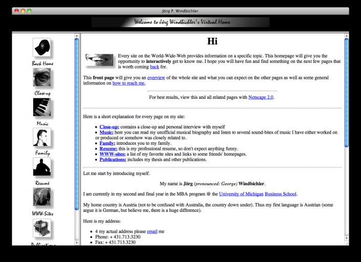 1995 - 1997 (Joergs Homepage)