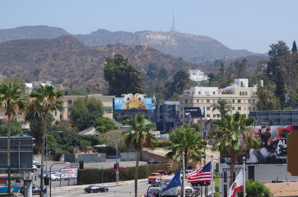 Driving through Hollywood